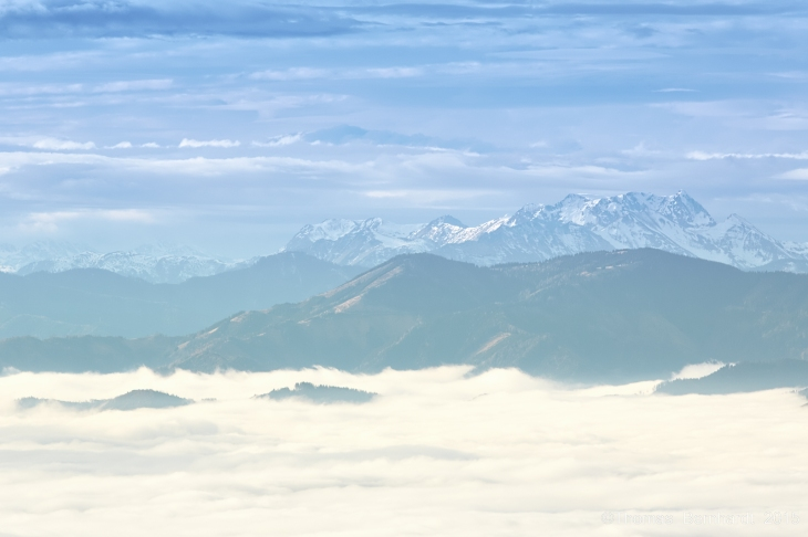 fog, mountains, clouds